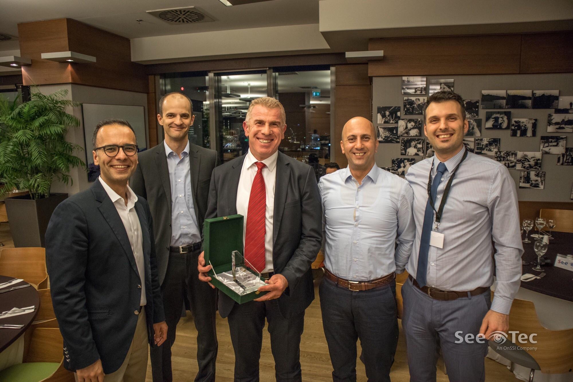 """SeeTec """"2017 Yılı En Çok Büyüme Sağlayan İş Ortağı"""" Ödülü"""